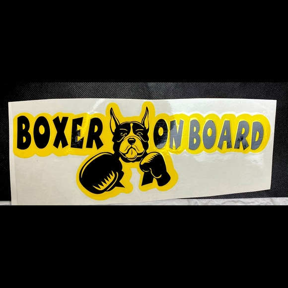Boxer On Board Vinyl Car Decal Sticker